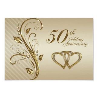 cinquantième Carte de l'anniversaire de mariage Invitation Personnalisée