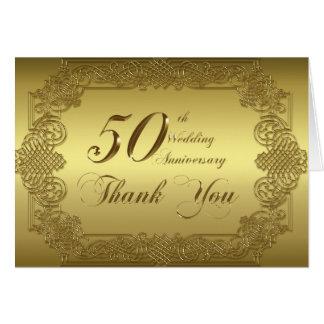 cinquantième Carte de note de Merci d'anniversaire