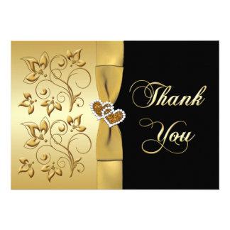 cinquantième Carte de remerciements des coeurs joi Faire-part Personnalisé