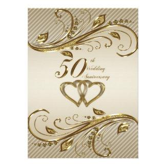 cinquantième Carte d'invitation d'anniversaire de