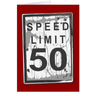 Cinquantième carte drôle de limitation de vitesse