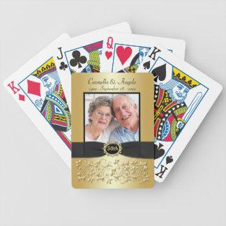 cinquantième Cartes de jeu noires d'or d'anniversa Jeux De Poker