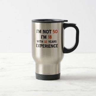 cinquantième conceptions d'anniversaire mug de voyage en acier inoxydable