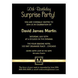 cinquantième Fête d'anniversaire - invitations Cartes Postales