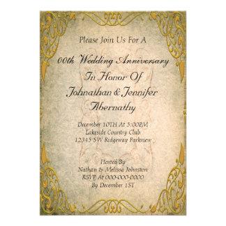 cinquantième Invitation d anniversaire de mariage