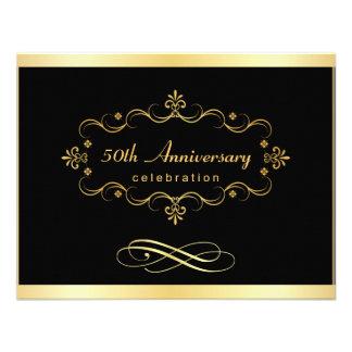 cinquantième Invitations d anniversaire - affaire