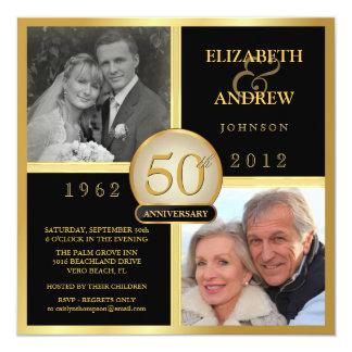 Cinquantième invitations élégantes de photo carton d'invitation  13,33 cm