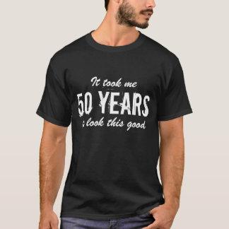 cinquantième T-shirt   de Bitrthday