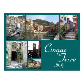 Cinque Terre Collage Postcard