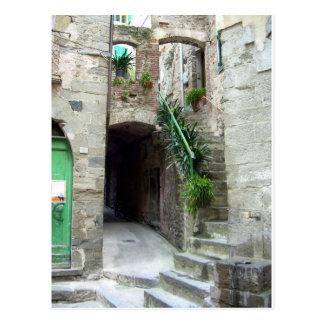 Cinque Terre (Corniglia Street) Postcard