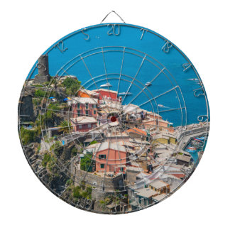 Cinque Terre in Italy Dartboard