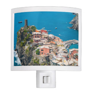 Cinque Terre in Italy Night Light