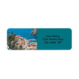 Cinque Terre in Italy Return Address Label
