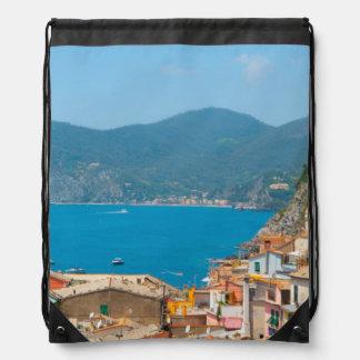 Cinque Terre in the Italian Riviera Drawstring Bag