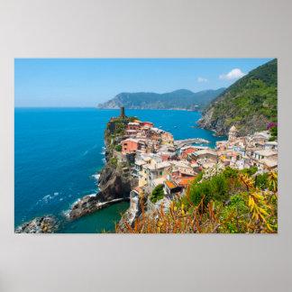 Cinque Terre in the Italian Riviera Poster