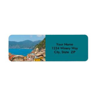 Cinque Terre in the Italian Riviera Return Address Label