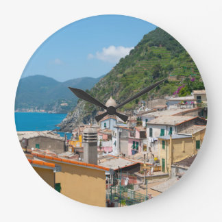 Cinque Terre in the Italian Riviera Wallclock