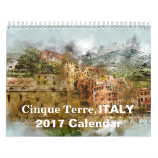 Cinque Terre Italy 2017 Tourism Holiday Wall Calendar
