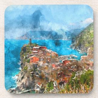 Cinque Terre Italy Coaster