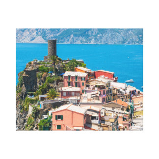 Cinque Terre Italy Destination Location Canvas Print