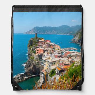 Cinque Terre Italy Destination Location Drawstring Bag