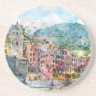 Cinque Terre Italy Drink Coaster