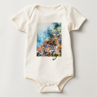Cinque Terre Italy in the Italian Riviera Baby Bodysuit