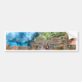 Cinque Terre Italy in the Italian Riviera Bumper Sticker