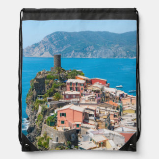 Cinque Terre Italy in the Italian Riviera Drawstring Bag