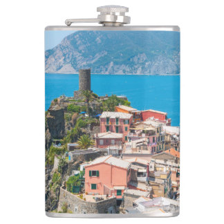 Cinque Terre Italy in the Italian Riviera Flask