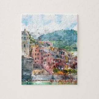 Cinque Terre Italy in the Italian Riviera Jigsaw Puzzle