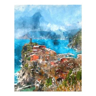 Cinque Terre Italy in the Italian Riviera Letterhead