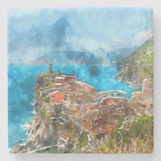 Cinque Terre Italy in the Italian Riviera Stone Coaster