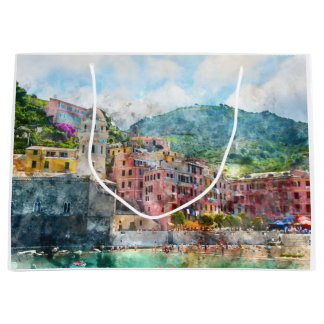 Cinque Terre Italy Large Gift Bag