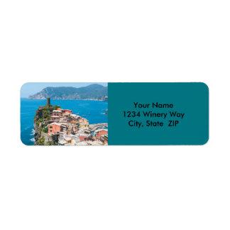 Cinque Terre Italy Return Address Label
