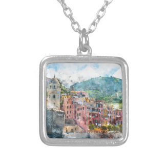 Cinque Terre Italy Silver Plated Necklace
