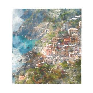 Cinque Terre Italy Vacation Destination Notepad