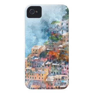 Cinque Terre Italy Watercolor iPhone 4 Cover
