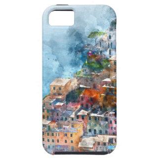 Cinque Terre Italy Watercolor iPhone 5 Cover