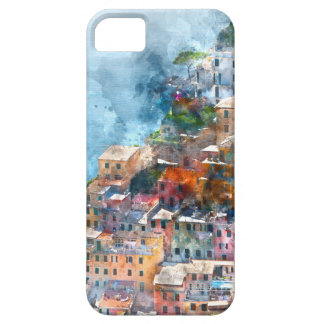 Cinque Terre Italy Watercolor iPhone 5 Covers