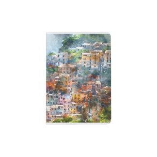 Cinque Terre Italy Watercolor Passport Holder