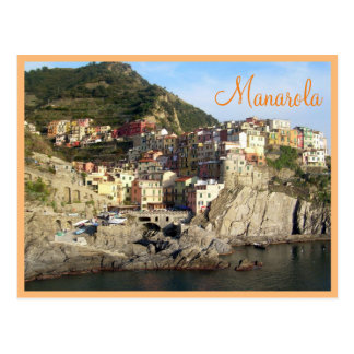 Cinque Terre (Manarola) with text Postcard