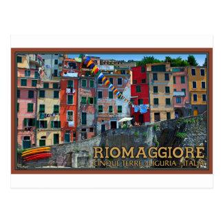 Cinque Terre - Riomaggiore Houses Postcard