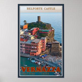 Cinque Terre - Vernazza Belforte Castle Poster