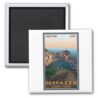 Cinque Terre - Vernazza Square Magnet