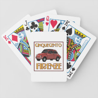 Cinquecento Firenze Fiat500 Florence Playing Cards