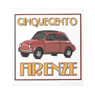 Cinquecento Firenze - Fiat 500 Florence Note Pad