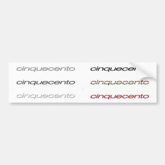 cinquecento white decals