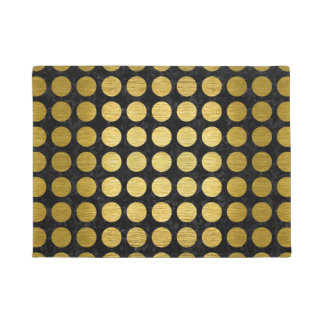 CIR1 BK MARBLE GOLD DOORMAT