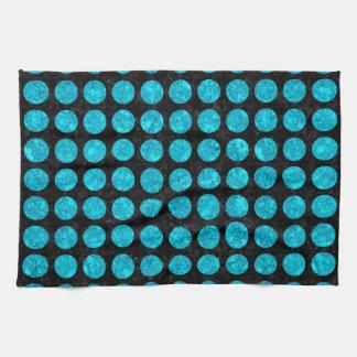 CIR1 BK-TQ MARBLE TOWELS